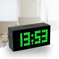 Wall Digital LED Light Alarm Clock Table Desk Bedroom Time Calendar Thermometer