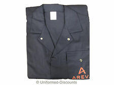 UK MADE NAVY BRANDED BOILERSUIT COVERALL OVERALL WORKWEAR 245GSM MECHANICS