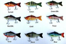 Multi Jointed segmented section fishing lure bass swimbait Blue Gill Sunfish