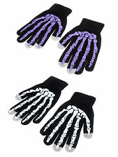 Men Women Cool Winter Warm Skull Skeleton Touch Phone Screen Knit Gloves Mittens