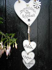 New*Personalised Engagement Hanging Heart gift,plaque,Wedding sign ,shabby chic