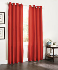 TWO BLACKOUT WINDOW CURTAINS, 55x90, LINED HEAVY THICK ECLIPSE PANEL, BAMBOO