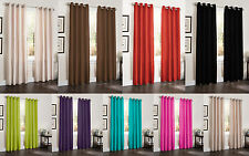 TWO BLACKOUT WINDOW CURTAINS, 55x90, LINED HEAVY THICK PANEL, ERIN, BAMBOO