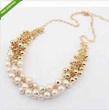 Women Beautiful Occident Hyperbole Multilayer Pearl Choker Collar Necklace Chain