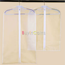 S/M Suit Coat Clothes Jacket Protector Storage Travel Dustproof Cover Bag Rsus