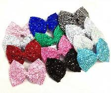 Girl Ladies Fashion Bling Brand New Diamante Crystal Bow Hair Clip Large Size
