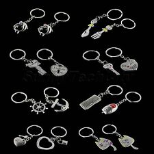 Uniqe Alloy Solid Key Ring Couples Keychain ADecoration Gift for Friend & Lover