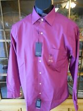 ARROW Cotton Blend  Rose Quartz LS Point (Straight)Fitted Dress Shirt SR$45 NEW