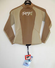 ROXY Wetsuit Jacket Top Syncro Hyperstretch Brown Beige NWT 8