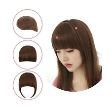 New Fashion Girls Clip on Front Neat Bang Fringe Hair Extensions 3 Colors AB