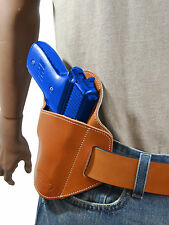 New Barsony Tan Leather Belt Slide Gun Holster Browning Colt Full Size 9mm 40 45