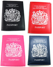 NEW UK AND EUROPEAN PASSPORT HOLDER COVER PROTECTOR WALLET PU LEATHER 6 COLOURS