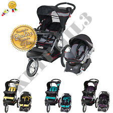 Baby Trend Travel System Stroller Expedition LX Jogger Adjustable Canopy FREE
