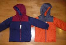 NWT Boys the CHILDREN'S PLACE Puffer Jacket Coat Size Small 5/6 Navy Orange Hood