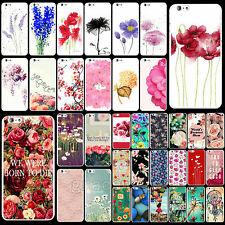 Colorful Flowers Pattern Protector Hard Back Skin Cover Case For iPhone 6 6 Plus