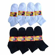 12 Pairs Mamia Men's Women's Ankle Socks Sz. 9-11 NEW