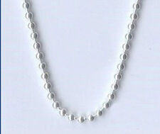 Free P&P 5PCS Vogue 2MM 16inch~24inch  Silver Plated Unisex Chain Beads Necklace
