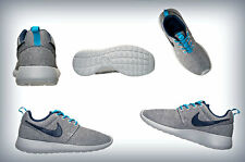 kids (GS) Grade School Nike Roshe Run White/Mid Navy/Blue Legion 599728 100