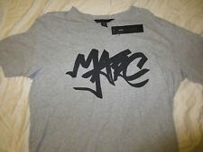 """NWT Men's MARC BY MARC JACOBS S/S """"TAG"""" Cotton Gray T-Shirt Tee $88"""