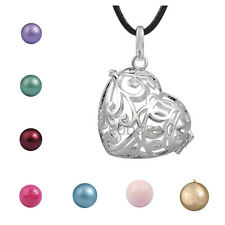 Sterling Silver Baby Lucky Wish 20mm Ball Harmony Floating Musical Bell Pendant