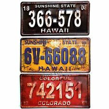 Embossed Metal American Car Number Plate Wall Plaque, Sign Retro / Rusty design