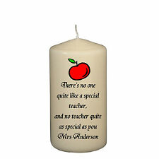 Personalised Gift Wrapped Teachers End Of Term Or Leaving Novelty Gift Candle