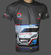 Peugeot sport 208 rally car all sublimation print t-shirt