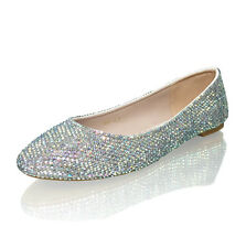 Marc Defang AB crystals Luxury Bridal Wedding Ballet Flats