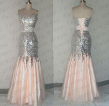 New Sequins Lace Mermaid Prom Dress Party Celebrity Evening Formal Dress SZ2-16