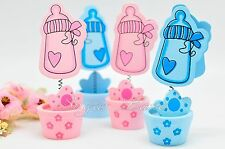 12 PCS Baby Shower Thank You Card Holders Favors Decorations Supplies Girl Boy