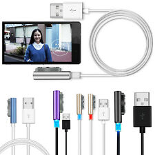 LED Metal Magnetic Charging USB Cable For Sony Xperia Z3 Z2 Mini Compact Charger