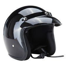 Face Crash Helmet Dot Approved Adult Motorcycle Scooter Safety 3/4 Open S M L XL