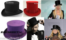 New Mens Womens KING ICE 100% Wool Hand Made Felt Unisex Top Hat Size S M L XL