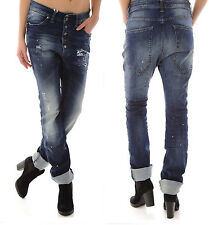 SEXY WOMAN ITALY  DAMEN DESTROYED  Baggy Loose-fit JEANS Hose XS-S-M