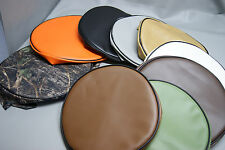 Bar Stool Covers SLIP ON for pub kitchen snack padded round  in 25 colors (Q/W)