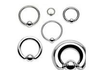 Ball Closure Ring BCR Surgical Steel 0.8 1.0 1.2 1.6 Ear Lip Nose Tragus Helix