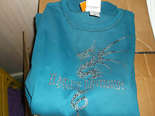Harley-Davidson Women's Dragon turquoise embellished shirt NEW obsolete