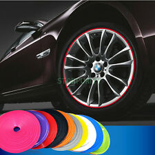 8m/26ft Wheel Rim Hub Decal Strip Anti-Scratch Protector Roll with 3M Sticker