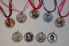 Ever After High Bottle Cap Necklaces with Ribbon Chains,  Party Favors, Gifts