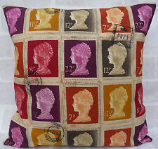 "Prestigious Vintage Stamp Mulberry Cushion Cover 16"" 18"" 20"" 22"" 24"""