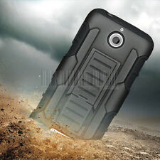 For HTC Desire 510 Rugged Hybrid Armor Hard Case Protector Cover Stand Holster