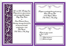 100 Personalized Wedding Invitations Cheap Affordable Budget Bride DYI Bride