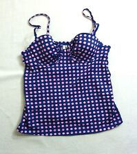 NWT J. CREW GRID DOT RUCHED UNDERWIRE SWING TOP a1567 $68 RSP TANKINI SWIM SUIT