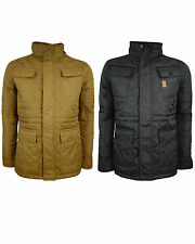New Mens Crosshatch Laxos Jacket Quilted Winter Coat Collared jacket