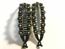 2 pcs NEW VINTAGE LARGE COMB BANANA CLIP HAIR RISER CLAW LOT