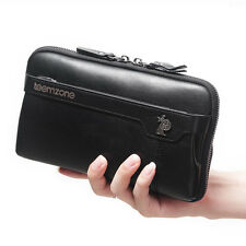 Genuine Soft Leather Waterproof Clutch Wallet Purse Organizer Checkbook teemzone