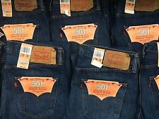 Mens Levis 501 Jeans Button Fly New Tags(NWT) Straight Leg Original Levi Strauss