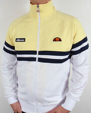 Ellesse Heritage - Rimini Track Top in White, Yellow & Navy