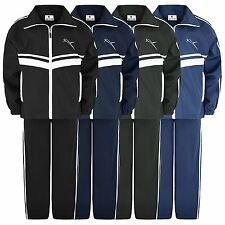 KIDS 2 PIECE SUIT STRIPE TRACKSUIT JOGGING BOTTOMS ZIPPED TOP GIRLS BOYS 5-16Y