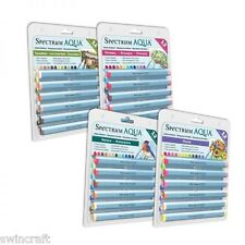 SPECTRUM NOIR Water Based AQUA MARKERS PEN SETS / CD-ROM   Crafters Companion